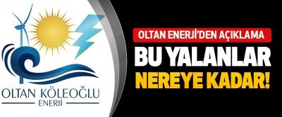 Oltan Enerji'den Açıklama