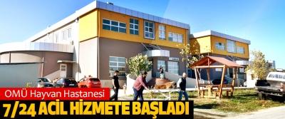 OMÜ Hayvan Hastanesi 7/24 Acil Hizmete Başladı