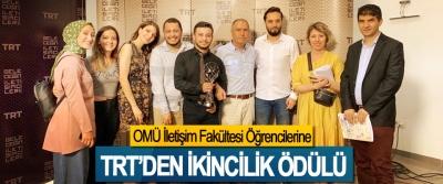 OMÜ İletişim Fakültesi Öğrencilerine TRT'den ikincilik ödülü