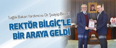 Omü Mezunu Sağlık Bakan Yardımcısı Dr. Şuayip Birinci Rektör Bilgiç'le Bir Araya Geldi