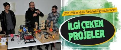Omü Mühendislik Fakültesi Öğrencilerinden İlgi Çeken Projeler
