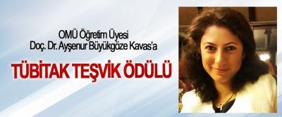 OMÜ Öğretim Üyesi Doç. Dr. Ayşenur Büyükgöze Kavas  Tübitak Teşvik Ödülü'ne Layık Görüldü