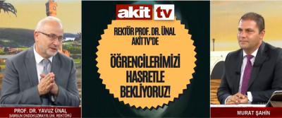 OMÜ Rektörü Prof. Dr. Ünal Akit TV'de