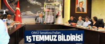 OMÜ Senatosu'ndan 15 Temmuz Bildirisi
