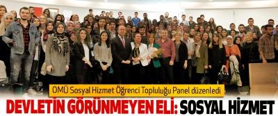 OMÜ Sosyal Hizmet Öğrenci Topluluğu Panel düzenledi