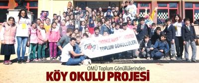 OMÜ Toplum Gönüllülerinden Köy Okulu Projesi