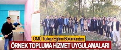 OMÜ Türkçe Eğitimi Bölümünden Örnek Topluma Hizmet Uygulamaları