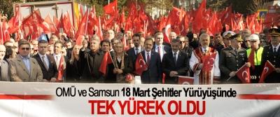OMÜ ve Samsun 18 Mart Şehitler Yürüyüşünde Tek Yürek Oldu