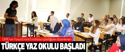 OMÜ ve Yunus Emre Enstitüsü işbirliğiyle düzenlenen Türkçe Yaz Okulu Başladı