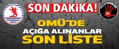 Omü'de Açığa Alınanların Son Listesi