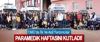 OMÜ'de İlk Ve Acil Yardımcılar Paramedik Haftasını Kutladı!