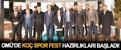 OMÜ'de Koç Spor Fest Hazırlıkları Başladı!