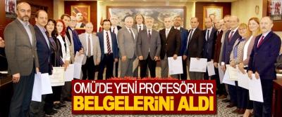 OMÜ'de Yeni Profesörler Belgelerini Aldı