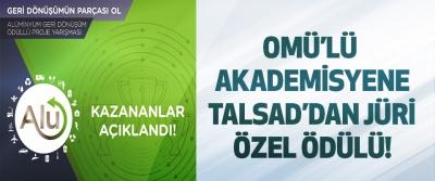 Omü'lü akademisyene talsad'dan jüri özel ödülü!