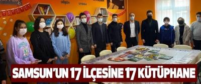 OMÜ'lü Öğrencilerden Samsun'un 17 İlçesine 17 Kütüphane