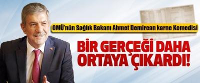 OMÜ'nün Sağlık Bakanı Ahmet Demircan karne Komedisi Bir gerçeği daha ortaya çıkardı!