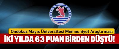 Ondokuz Mayıs Üniversitesi Memnuniyet Araştırması İki yılda 63 puan birden düştü!