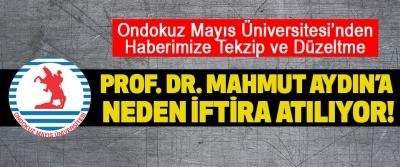 Ondokuz Mayıs Üniversitesi'nden Haberimize Tekzip ve Düzeltme