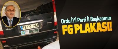 Ordu İYİ Parti İl Başkanının FG plakası!