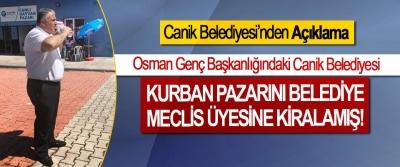 Osman Genç Başkanlığındaki Canik Belediyesi Kurban Pazarını Belediye Meclis Üyesine Kiralamış!