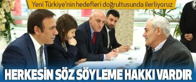 Osman Genç, Yeni Türkiye'nin hedefleri doğrultusunda ilerliyoruz