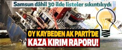 Oy kaybeden Ak Parti'de kaza kırım raporu!