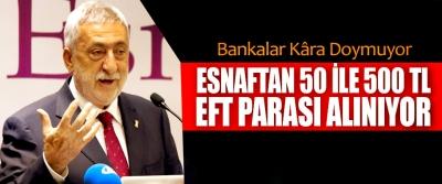 Palandöken, Bankalar Kâra Doymuyor, Esnaftan 50 İle 500 Tl Eft Parası Alınıyor