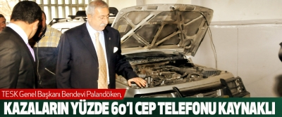 Palandöken:Kazaların Yüzde 60'ı Cep Telefonu Kaynaklı