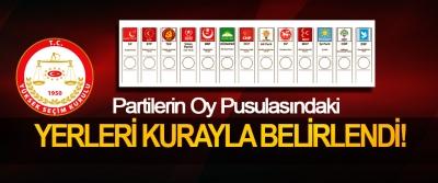 Partilerin Oy Pusulasındaki Yerleri Kurayla Belirlendi!