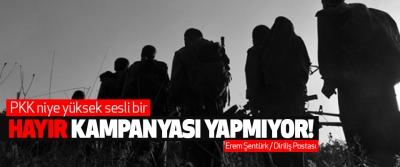 PKK niye yüksek sesli bir hayır kampanyası yapmıyor!