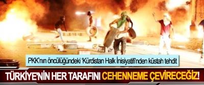 PKK'nın öncülüğündeki 'Kürdistan Halk İnisiyatifi'nden küstah tehdit, Türkiye'nin her tarafını cehenneme çevireceğiz!