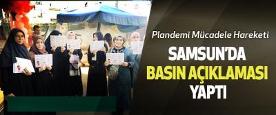 Plandemi Mücadele Hareketi Samsun'da Basın Açıklaması Yaptı