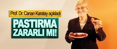 Prof. Dr. Canan Karatay açıkladı; Pastırma Zararlı mı!