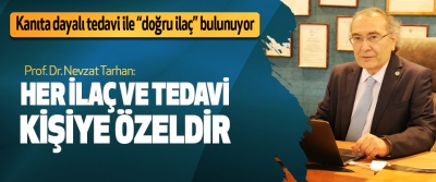 Prof. Dr. Nevzat Tarhan: her ilaç ve tedavi kişiye özeldir