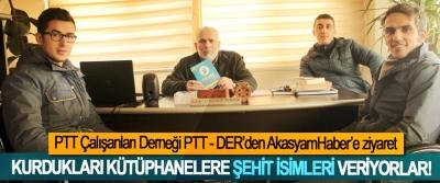 PTT Der Kurdukları kütüphanelere şehit isimleri veriyorlar!