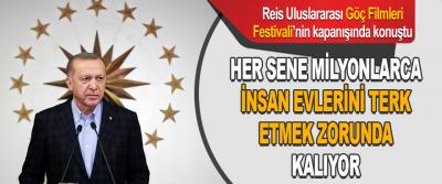 Reis Uluslararası Göç Filmleri Festivali'nin kapanışında konuştu