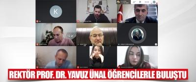 Rektör Prof. Dr. Yavuz Ünal Öğrencilerle Buluştu