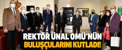 Rektör Ünal OMÜ'nün Buluşçuarını Kutladı!
