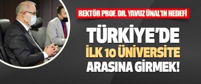 Rektör Ünal'ın Hedefi Türkiye'de İlk 10 Üniversite Arasına Girmek!