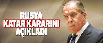 Rusya: Katar'a yardım etmeye hazırız