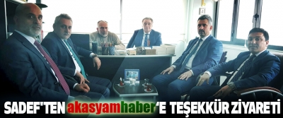 Sadef'ten Akasyamhaber'e Teşekkür Ziyareti