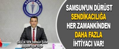 SAĞLIK SEN Samsun Şube Başkanı İlyas Biçer