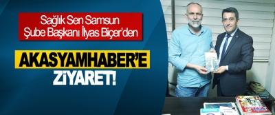 Sağlık Sen Samsun Şube Başkanı İlyas Biçer'den Akasyamhaber'e ziyaret!