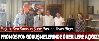 Sağlık-Sen Samsun Şube Başkanı İlyas Biçer promosyon görüşmelerinde önerilere açığız!