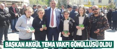 Salıpazarı Belediye Başkanı Halil Akgül Tema Vakfı Gönüllüsü Oldu.