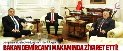 Salıpazarı Belediye Başkanı Halil Akgül Bakan Demircan'ı makamında ziyaret etti!