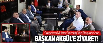Salıpazarı Muhtar Derneği Yeni Başkanından Başkan Akgül'e Ziyaret!