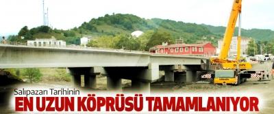 Salıpazarı Tarihinin En Uzun Köprüsü Tamamlanıyor