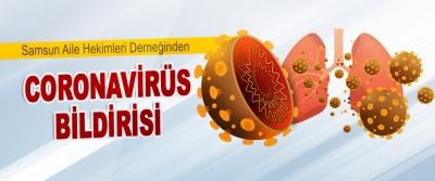 Samsun Aile Hekimleri Derneğinden Coronavirüs Bildirisi