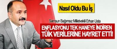 Samsun Bağımsız Milletvekili Erhan Usta Enflasyonu tek haneye indiren TÜİK verilerine hayret etti!